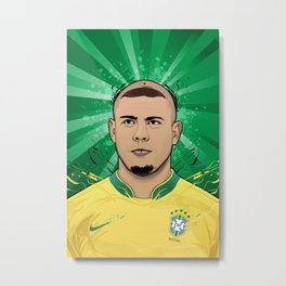 Football Legends: Ronaldo R9 Brasil  Metal Print