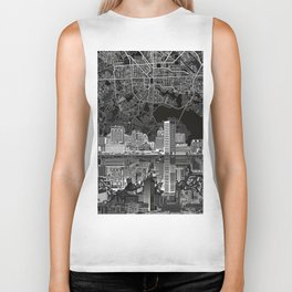 baltimore city skyline abstract 3 Biker Tank