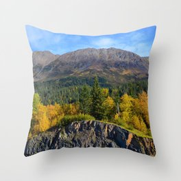 Fall - Turnagain Arm Alaska Throw Pillow