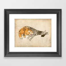 A Self Containing Food Chain Framed Art Print