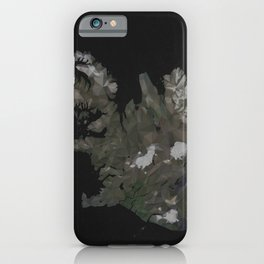 Iceland Map Low Poly Style Wanderlust iPhone Case
