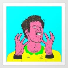 Table Tennis Mad Part 2 Art Print