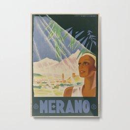ENIT Merano Vintage Travel Poster Metal Print