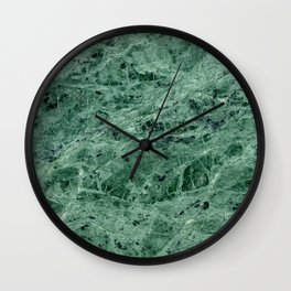 Green Marble Print Wall Clock