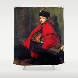 """John Everett Millais """"My First Sermon"""" Shower Curtain"""