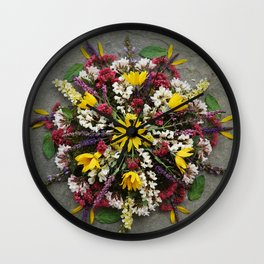 Nature Mandala: May Wall Clock