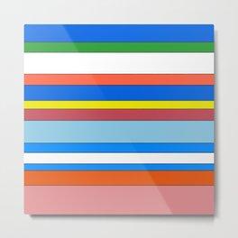 Classic Stripes No.001 Metal Print