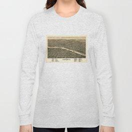 Bird's eye view of the city of Rockford, Illinois (1880) Long Sleeve T-shirt