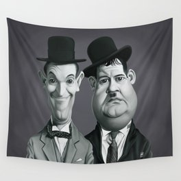 Laurel and Hardy Wall Tapestry