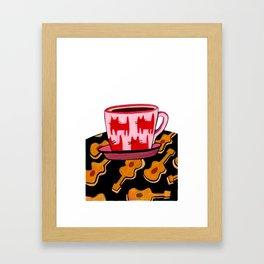 a cup of calmness .. Framed Art Print
