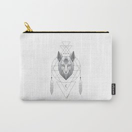 Geometric Wolf Dream Catcher Carry-All Pouch