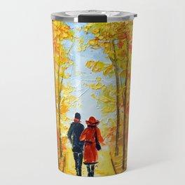 Autumn walk in the Park Travel Mug