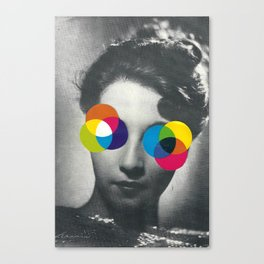 Psychedelic glasses Canvas Print