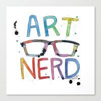 ART NERD Canvas Print