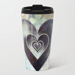 Abstract Colorful Heart sketching desig Travel Mug