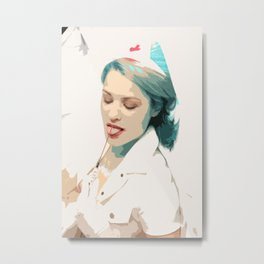 Femsketch 4 Nurse with Syringe Metal Print