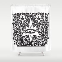 occult Shower Curtains featuring Occult  by Maelstrm