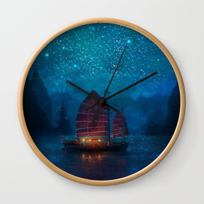 Our Secret Harbor Wall Clock