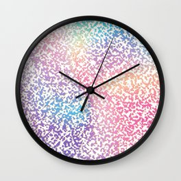 Abstract lavender pink ombre modern pattern Wall Clock