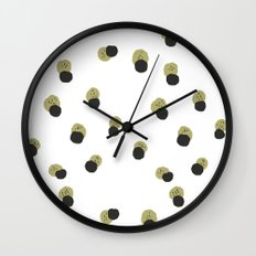 blots abstract minimal pattern Wall Clock