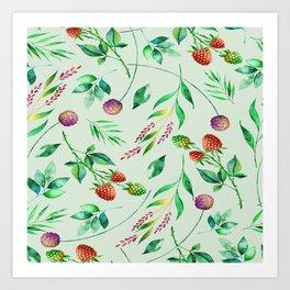 Classic Floral Pattern Art Print
