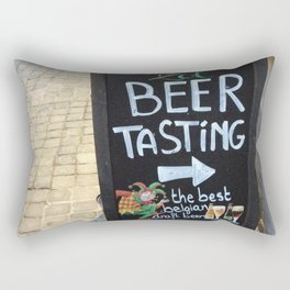 Beer Tasting in Belgium Rectangular Pillow