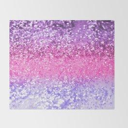 Unicorn Girls Glitter #6 #shiny #decor #art #society6 Throw Blanket