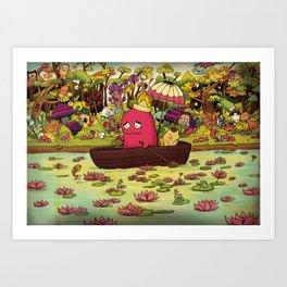 Borish Sailing at Lotus River Art Print