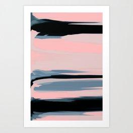Soft Determination Peach Art Print