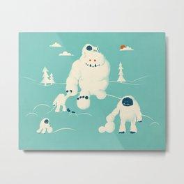 Abominable Snowman's Snowman Metal Print