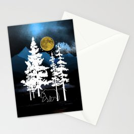 Full Moon Rising II Stationery Cards