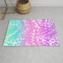 Leopard Print Rainbow Rug