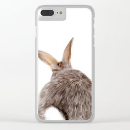 Bunny back side Clear iPhone Case