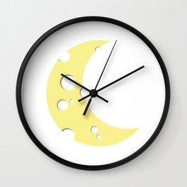 moon of cheese Wall Clock