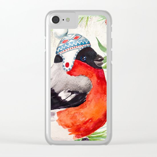 Winter animal #2 Clear iPhone Case