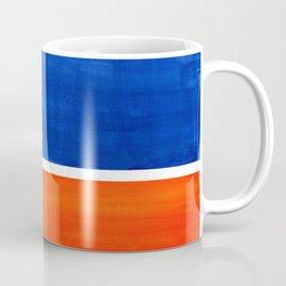 Colorful Bright Minimalist Rothko Orange And Blue Midcentury Modern Art Vintage Pop Art Coffee Mug