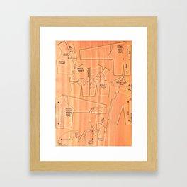 Khaki Bodices Framed Art Print