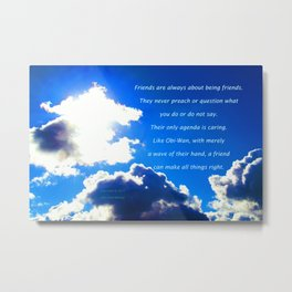 """Post-Rain Clouds #17"" with poem: Special, You Are Metal Print"