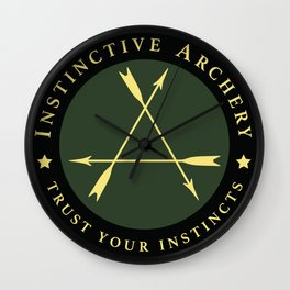 Instinctive Archery - Official Patch Tshirt - July 2017 Wall Clock