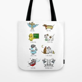 Know Your Dogs Tote Bag
