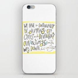 jumping off cliffs - kurt vonnegut quote iPhone Skin