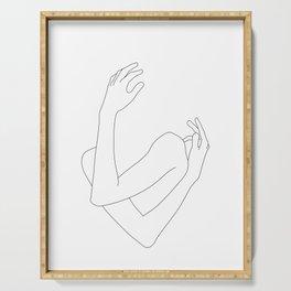 Crossed arms illustration - Jill Serving Tray