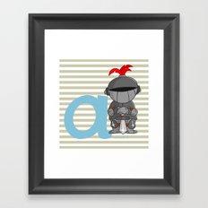a for armor Framed Art Print