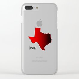 Texas Halftone Clear iPhone Case