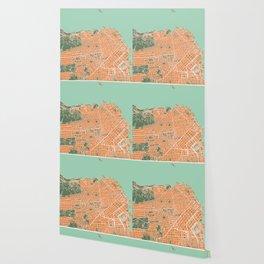 San Francisco city map orange Wallpaper