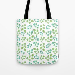 Summer Leaf Watercolor Tote Bag