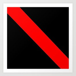 Oblique red and black Art Print