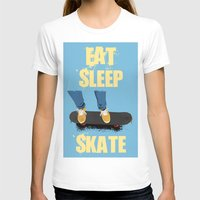 skate T-shirts featuring skate by the lazy pigeon