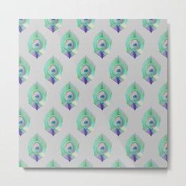 Peacock Pattern_E04 Metal Print