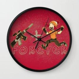 Jayne + Vera 4 Ever Wall Clock